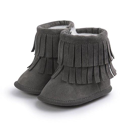 Invierno Borla Zapatos Botines Caminar Calcetín Amorar Nieve Antideslizantes Bebé Ajustable Para Con 3 Suave De Botas Primeros Suela vwRIq