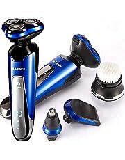 Elektrisch scheerapparaat voor mannen, professioneel elektrisch scheerapparaat, 4D drijvend rotatiescheerapparaat, baardsideburns haartrimmer, elektrisch scheerapparaat voor heren