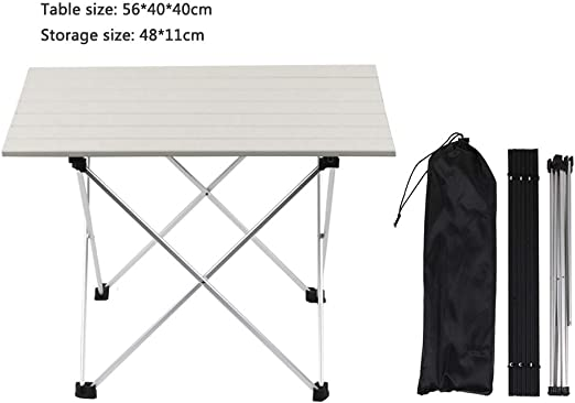 Folding Camping Table Portable Lightweight Height Adjustable Trestle Party BBQ
