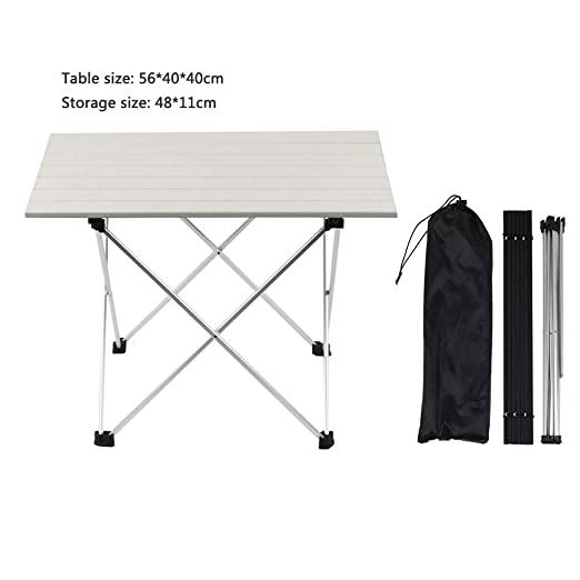 VSTAR66 Mesa plegable para barbacoa, ligera, portátil, de aluminio ...