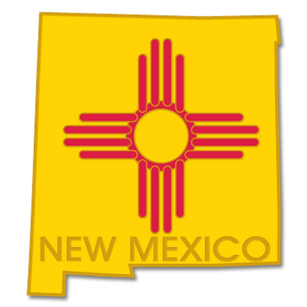 PinMart's State Shape of New Mexico and New Mexico Flag Lapel Pin