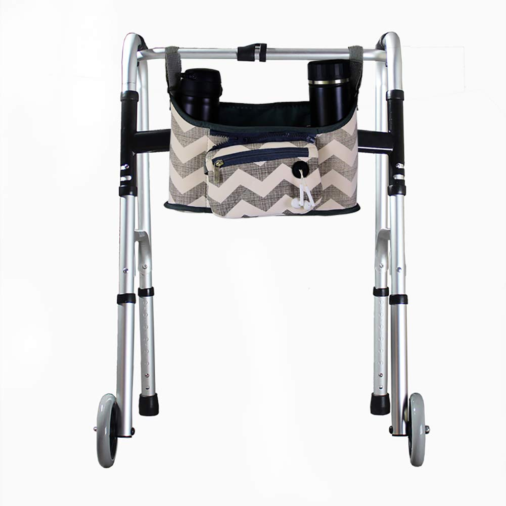 Walker Bag for Seniors, Wheelchair Side Bag, Walker Rollator Scooter Accessory Storage Tote Bag, Tote Caddy Pouch for Elderly, Seniors, Handicap, Disabled 12.6''Lx6.3''W by QEES