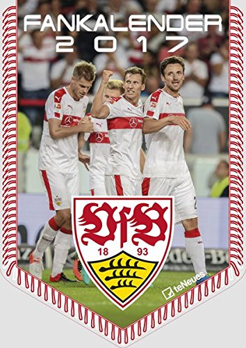 VfB Stuttgart 2017 - Fußballkalender 2017, Bannerkalender, Fankalender Stuttgart, VfB Stuttgart Kalender 2017, Wandkalender 2017 - 29,7 x 42 cm