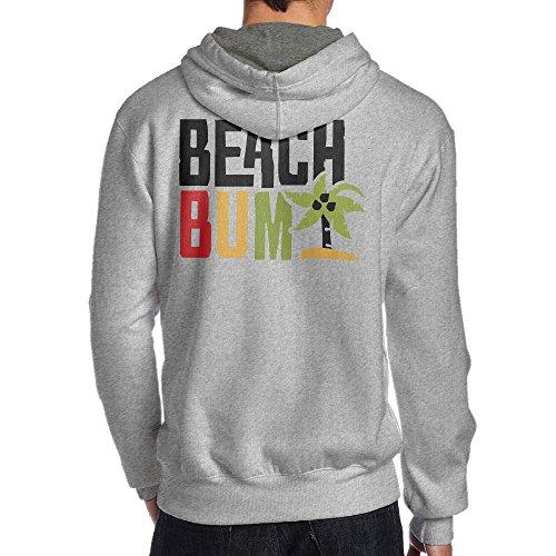 SBPZEB Beach Bum Letter Sport Men's Hoodie M Ash