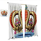 WinfreyDecor King Customized Curtains Royal Family Nobility Crown Colorful Ornaments Image Sovereign Print