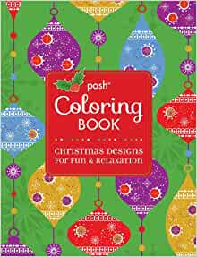 Amazon Posh Adult Coloring Book Christmas Designs
