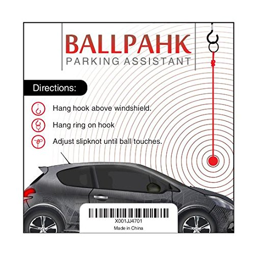 BallPahk Pink Adjustable Parking Aid | Makes Parking In Your Garage Easy | Simple Fun Multi Color Design | No Tools Installation | Quality Materials by BallPahk (Image #2)