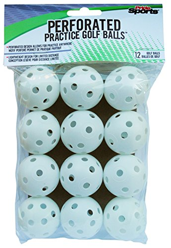 PrideSports Practice Golf Balls, Perforated, 12 -