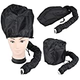 hair blow dryer with cap - Berucci Portable Hair Drying Styling Soft Cap Bonnet Hood Hat Blow Hair Dryer Attachment -- Black