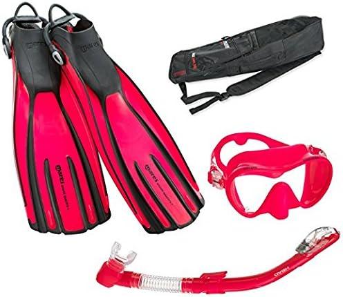 PK-RG Mares Avanti Quattro Plus Fin Calypso Mask Dry Snorkel Set with Bag