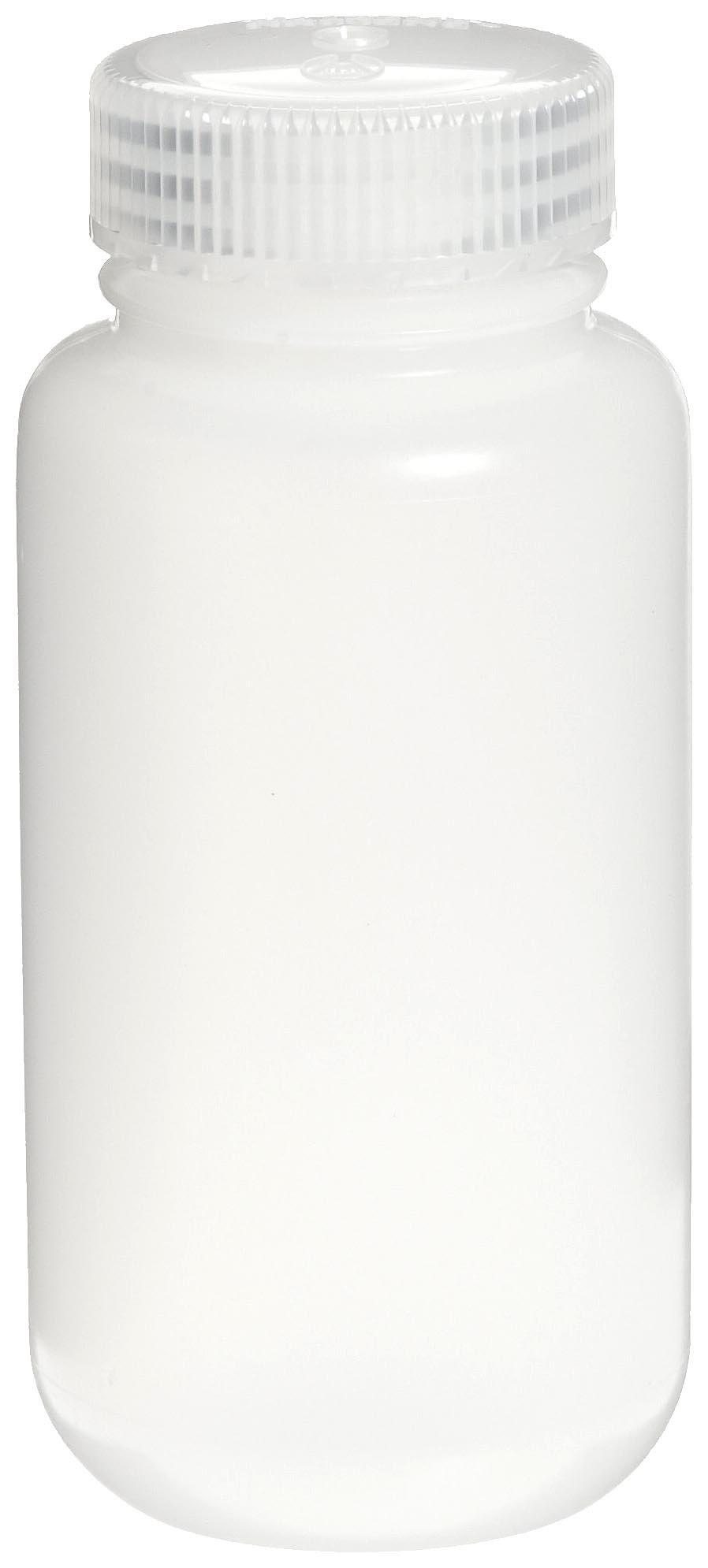 Nalgene 2189-0008 Wide-Mouth Lab Sample Bottle, HDPE, Economy, 250mL (Case of 72)