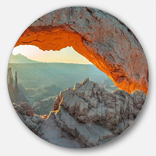 Designart Mesa Arch Canyon Lands Utah Park Landscape Circle Wall Art - Disc of 38 38x38-Disc of 38 inch