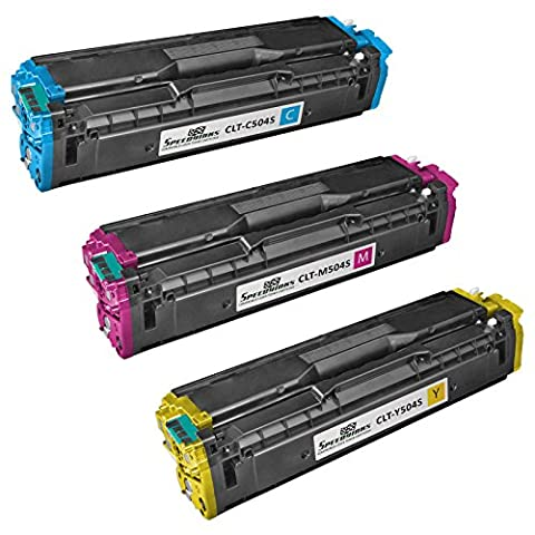 Speedy Inks - Compatible for Samsung 504S CLP-415 Set of 3 Color Cartridges: CLT-C504S Cyan, CLT-M504S Magenta, & CLT-Y504S Yellow For use in CLP-415NW, CLX-4195FN, CLX-4195FW, SL-C1810W, & (Samsung Laser Printer C1810w)