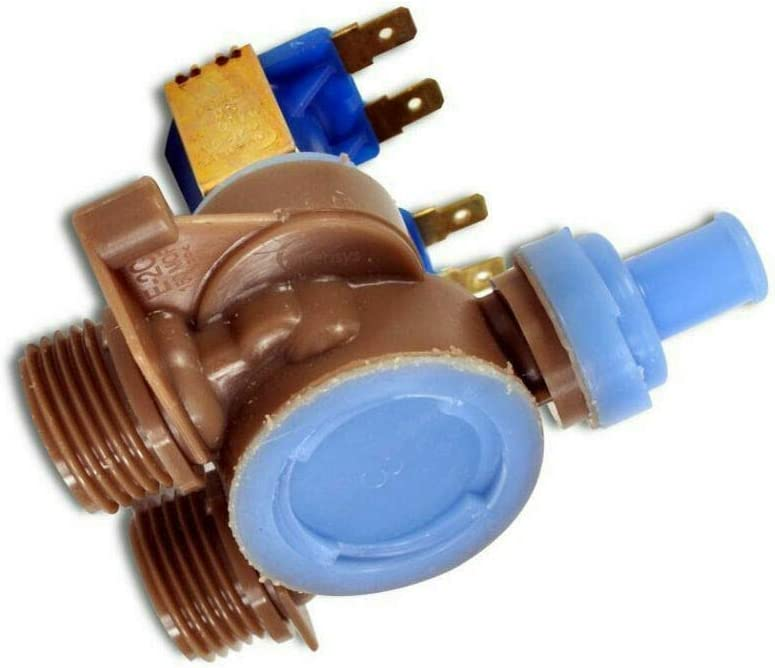 NEW 22004333 Water Inlet Valve Compatible for Whirlpool Maytag Washer made by OEM Manufacturer WP22004333, AP6006446, 22004191, PS11739520 by Primeco - 1 Year Warranty