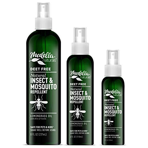 Medella Naturals Insect & Mosquito Repellent, DEET-Free All-Natural Formula, Kid and Pet Friendly, Made in The USA…