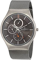 Skagen Men's SKW6036 Grenen Quartz/Multi Titanium Gray Watch