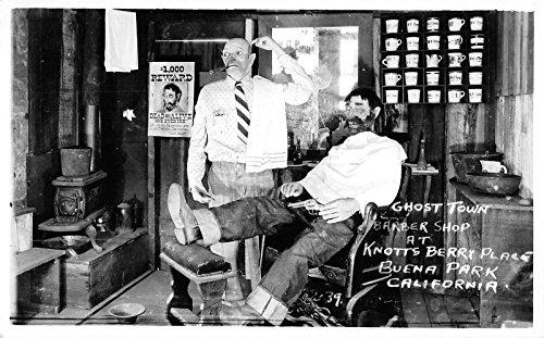 buena-park-california-ghost-town-barber-shop-scene-real-photo-postcard-v22939