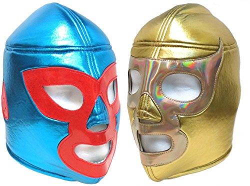 Nacho Libre Mask (Nacho Libre and Ramses Adult Lucha Libre Wrestling Mask Combo)