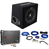 KICKER 43VC124 Comp 12 Subwoofer In Vented Sub Box Enclosure+Amplifier+Amp Kit