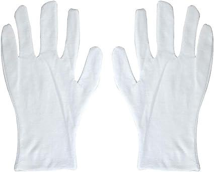 Frcolor 6 pares alargan los guantes blancos de algodón Guantes saludables de algodón para la fábrica industrial Marching Band Parade Formal Guantes de vestir: Amazon.es: Belleza