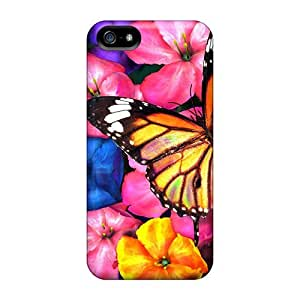 New Premium Flip Cases Covers Wow Colorful In Spring Skin Cases For Iphone 5/5s