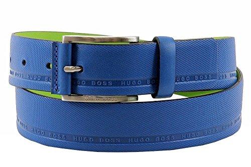 Hugo Boss Men's Tymo Fashion Blue/Green Leather Belt Sz: 32