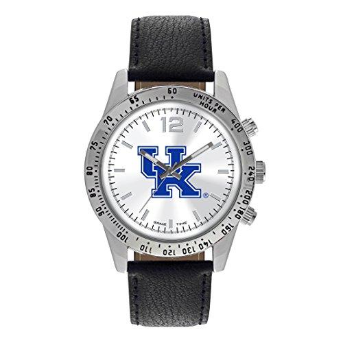 NCAA Kentucky Wildcats Adult Men Letterman Mens Watch, One Size, Silver & (Wildcats Mens Watch)