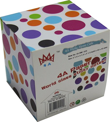 4A Sticky Memo Cube,2 1/2 Inches, Bubble Patterned On The Sides, About 500 Sheets/Cube,1 Cube/Pack,4A SMC 434 (Cube Sticky Note)