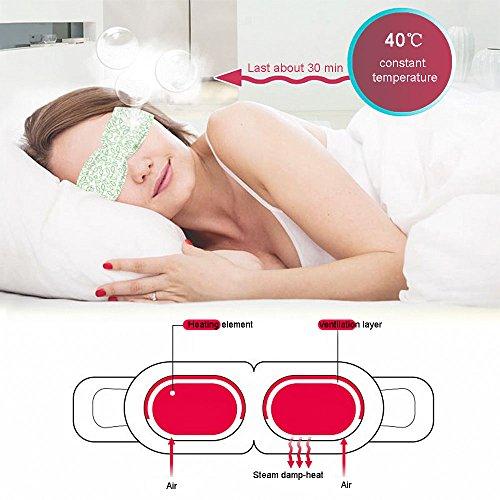 BestFire Hot Steam Eye Mask Warm Eye Patch Steam Eye SPA Mask Relieve Eye Tiredness Remove Eye Dark Circles,Lavender Fragrance- 2 Packs(10 Pcs) by BestFire® (Image #2)