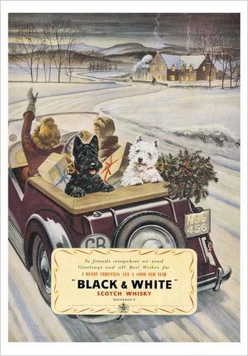 Black & White Scotch Whisky Poster Print, 19.75x27.5