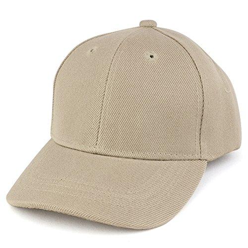 Trendy Apparel Shop Plain Infants Size Structured Adjustable Baseball Cap - Khaki