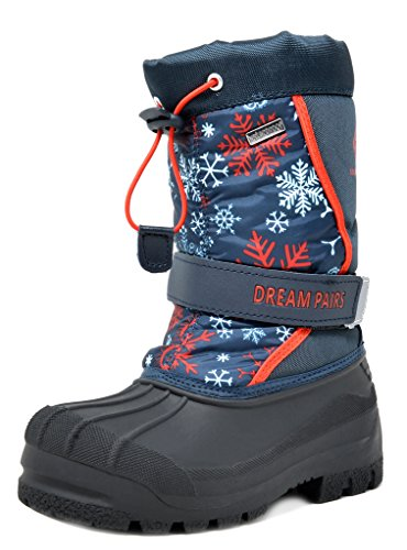 DREAM PAIRS Toddler Kamick Navy Red Mid Calf Waterproof Winter Snow Boots Size 9 M US Toddler - Navy Waterproof Boot