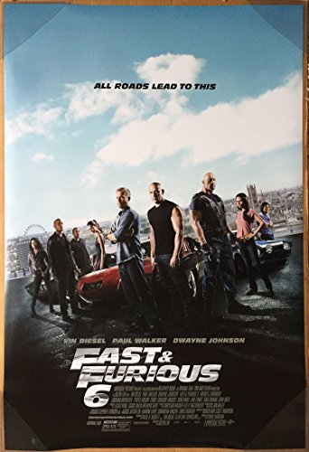 2 Double Sided Poster (FAST AND FURIOUS 6 MOVIE POSTER 2 Sided ORIGINAL FINAL 27x40 VIN DIESEL)