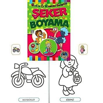 Karatay örnekli şeker Boyama Kitabı Kalın Amazoncomtr Yakala