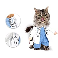 Pet Doctor Dog Cat Costume Clothes Funny Cosplay Small Puppy Party