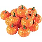 Wady 12 pezzi artificiale Fall Harvest mini zucche per Halloween decorazione domestica