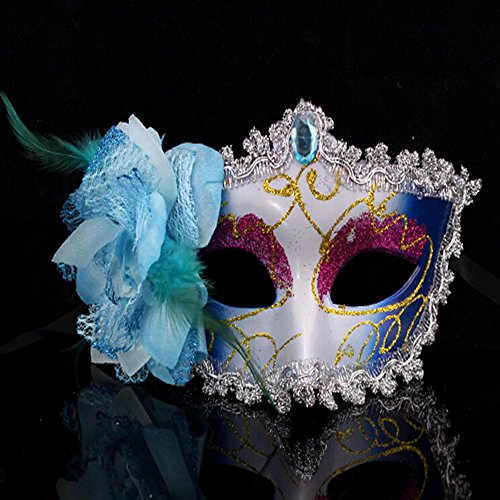 KAKA(TM) Mask Costume Cosplay Ball Dancing Party [Halloween] Princess Masks Facial Masquerade Glitter - (Megara Halloween Costume)