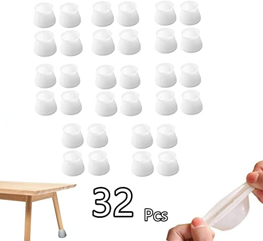 8PCS Table Chair Leg Silicone Cap Pad Furniture Table Feet Cover Floor Protector