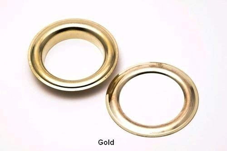 Gold 50pcs Uteruik 20 mm /Ösen und Unterlegscheiben rostfrei f/ür Stoffvorh/änge Leder Plane Kunst /& Handwerk
