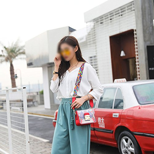 Korean transparent fashion shoulder 2018 female jelly Yellow Messenger bag bag qwUdvx