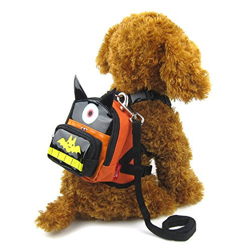 Alfie Pet - Oliga Backpack Harness with Leash Set - Pattern: Batman, Size: Medium