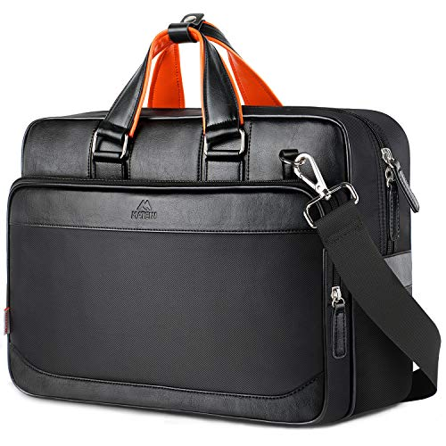 MATEIN Briefcases for Men,Extra Large 17 Inch Laptop Bag for Women,Computer Organizer Briefcase, Water Resistant Business Travel Messenger Bag,Black