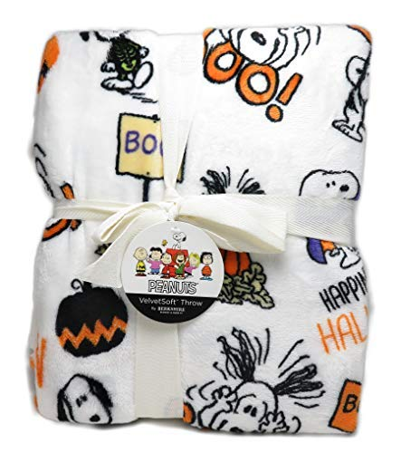 Berkshire Snoopy in Halloween Costumes Peanuts 55 x 70 Inch VelvetSoft Throw -