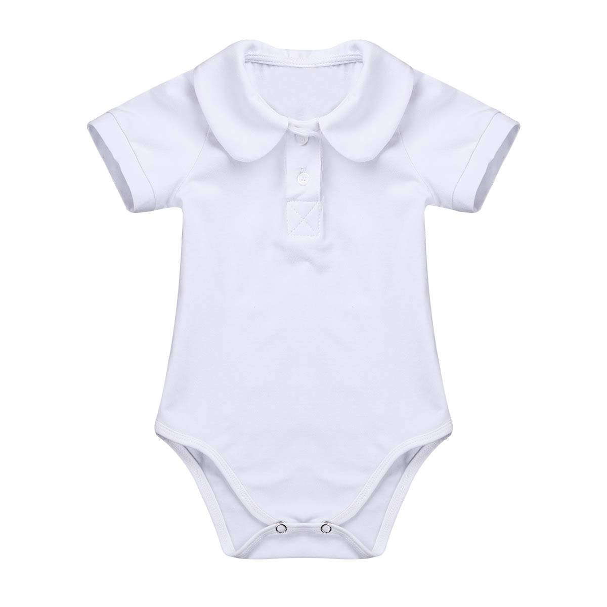 YiZYiF Infant Baby Boys' Basic Cotton Short Sleeve Collared Polo Bodysuit Formal Party Christening Outfits Tops