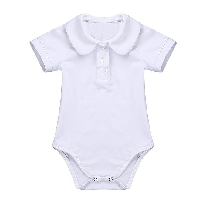 TiaoBug Mameluco Blanco Bebé Algodón para Fiesta Bautizo Ceremonia Pelele Camiseta Una Pieza de Dormir para Niños Recién Nacidos: Amazon.es: Ropa y ...