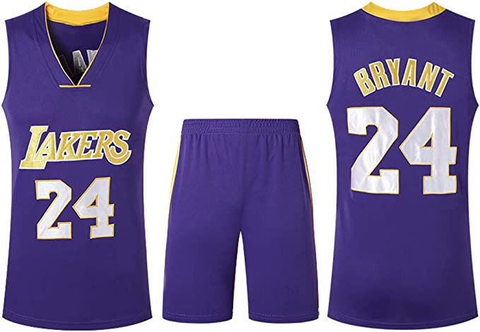 Utilizado para Kobe Bryant NO.24 Fanáticos de Los Angeles Lakers ...