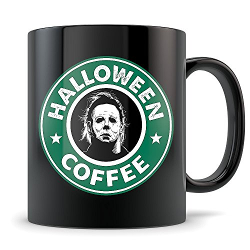 Halloween Movie Mug - Michael Myers Starbucks Parody Coffee Cup - Just In Time for Halloween (Halloween Movie Franchise)