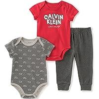 Baby Boys' 3 Piece Short Sleeve Bodysuit and Pant Set