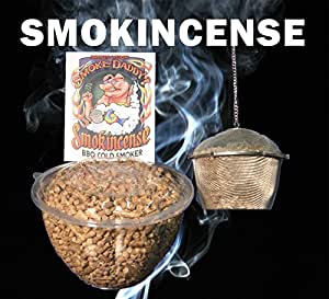Smoke Daddy Smokincense Cold Smoker For Traeger, Green Mountain, Big green Egg and other BBQ Grills