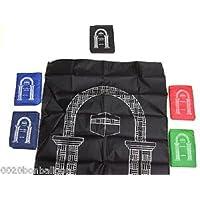 2 Pcs Pocket Portable Travel Prayer Rug Carpet Poly Mat Islamic Gebetsteppich Musallah Muslim Namaz Salat Sajadah Janamaz Sajjada Eid 374